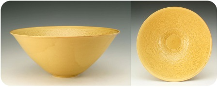 Etched Light Yellow Bowl